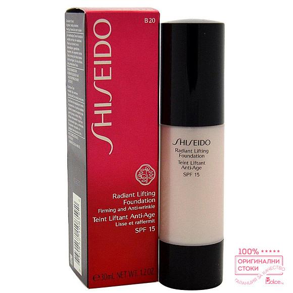 Shiseido Radiant Lifting Foundation SPF 15 Фон дьо тен с лифтинг ефект и слънцезащитен фактор