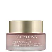 clarins multi-active jour дневен възстановяващ крем против бръчки за всички типове кожа цез опаковка
