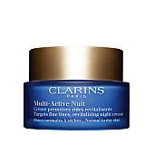 clarins multi-active nuit нощен възстановяващ крем за фини сухи линии за нормална към суха кожа без опаковка