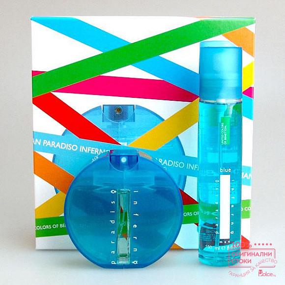 Benetton Inferno Blue подаръчен комплект за мъже