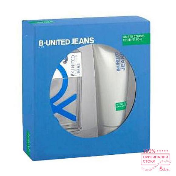 Benetton B. United Jeans EDT - подаръчен комплект за мъже