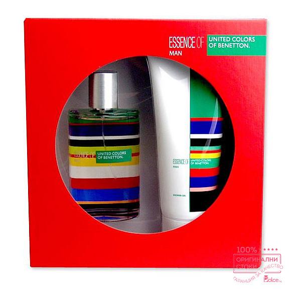 Benetton Essence of United colors EDT - мъжки подаръчен комплект