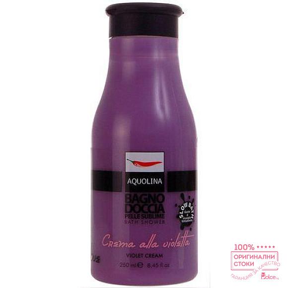Aquolina душ гел с аромат на крем от теменужки