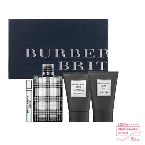 Burberry Brit EDT - подаръчен комплект за мъже