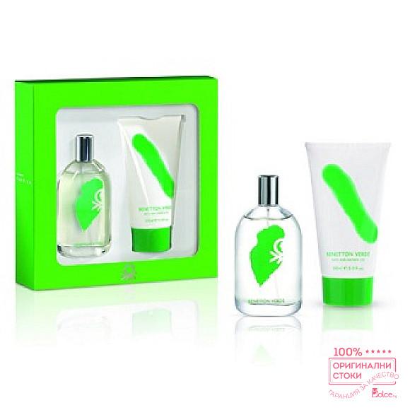 Benetton Verde EDT - Подаръчен комплект за мъже