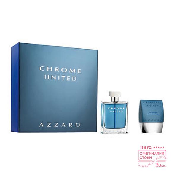 Azzaro Chrome United EDT - подаръчен комплект за мъже