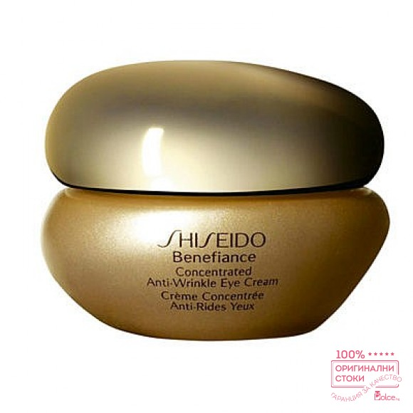 Shiseido Benefiance Concentrated Anti-Wrinkle Eye Cream - Крем за околоочната зона против отоци и бръчки