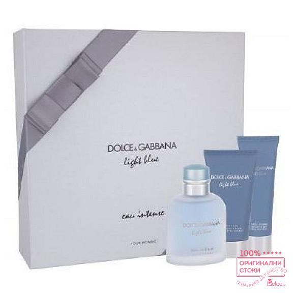Dolce & Gabbana Light Blue Intense - подаръчен комплект за мъже