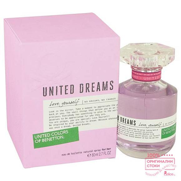 Benetton United Dreams Love Yourself EDT - тоалетна вода за жени без опаковка