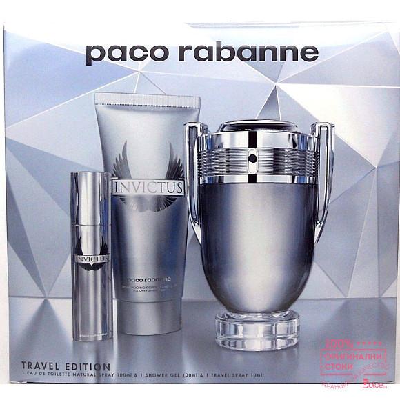 Paco Rabanne Invictus - подаръчен комплект за мъже